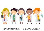 illustration of stickman kids... | Shutterstock .eps vector #1169120014