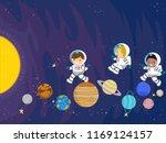 illustration of stickman kids... | Shutterstock .eps vector #1169124157