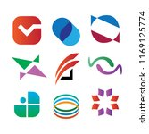 abstract mix set symbol   Shutterstock .eps vector #1169125774
