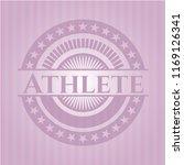 athlete pink emblem. retro   Shutterstock .eps vector #1169126341