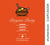 chicken biryani party... | Shutterstock .eps vector #1169136334
