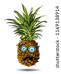 cute pineapple cartoon... | Shutterstock .eps vector #1169138914