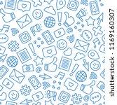 social media minimalist... | Shutterstock .eps vector #1169160307