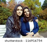 mature mother with daughter... | Shutterstock . vector #116916754