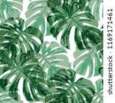 tropical pattern. seamless... | Shutterstock .eps vector #1169171461