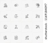 landscape line icon set with... | Shutterstock .eps vector #1169184097