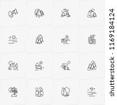 landscape line icon set with... | Shutterstock .eps vector #1169184124