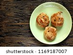 pig snout from dough. pies with ...   Shutterstock . vector #1169187007