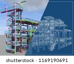 bim model of a building made of ... | Shutterstock . vector #1169190691