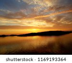 beautiful sunset over the ocean ... | Shutterstock . vector #1169193364