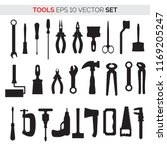 silhouettes of repair tools ... | Shutterstock .eps vector #1169205247