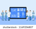 digital health concept ... | Shutterstock .eps vector #1169206807