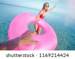 follow me. vacation concept.... | Shutterstock . vector #1169214424