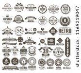 vintage retro vector logo for... | Shutterstock .eps vector #1169219047