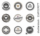 vintage retro vector logo for... | Shutterstock .eps vector #1169219077