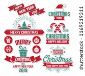 christmas vector logo for... | Shutterstock .eps vector #1169219311