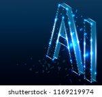 ai letter  artificial... | Shutterstock .eps vector #1169219974