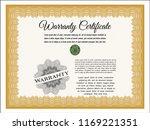 orange vintage warranty... | Shutterstock .eps vector #1169221351