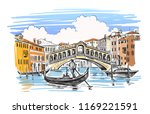 venice in sketchy style. vector ... | Shutterstock .eps vector #1169221591