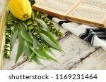 jewish festival of sukkot.... | Shutterstock . vector #1169231464