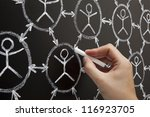 hand showing social networking... | Shutterstock . vector #116923705