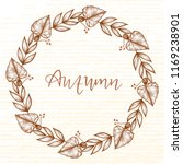 autumn wreath of forest... | Shutterstock .eps vector #1169238901