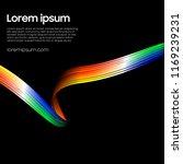 ribbon abstract vector.... | Shutterstock .eps vector #1169239231