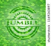jumble green emblem with mosaic ...   Shutterstock .eps vector #1169263897