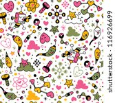 fun cartoon pattern - stock vector