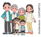 three generational households... | Shutterstock .eps vector #1169268721