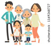 three generational households... | Shutterstock .eps vector #1169268727