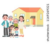 three generational households   ... | Shutterstock .eps vector #1169269321