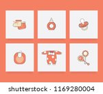 orange colored newborn baby... | Shutterstock .eps vector #1169280004