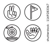 set of 4 vector icons such as... | Shutterstock .eps vector #1169283367