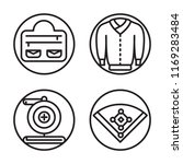 set of 4 vector icons such as...   Shutterstock .eps vector #1169283484