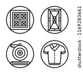 set of 4 vector icons such as...   Shutterstock .eps vector #1169283661