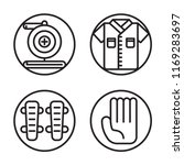 set of 4 vector icons such as... | Shutterstock .eps vector #1169283697