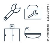 set of 4 vector icons such as... | Shutterstock .eps vector #1169284957