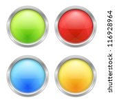 set of four round buttons ... | Shutterstock .eps vector #116928964