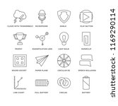 set of 16 simple line icons... | Shutterstock .eps vector #1169290114