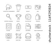 set of 16 simple line icons... | Shutterstock .eps vector #1169290834