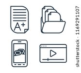 set of 4 vector icons such as... | Shutterstock .eps vector #1169291107