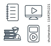 set of 4 vector icons such as... | Shutterstock .eps vector #1169291221