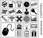 set of 22 business icons ... | Shutterstock .eps vector #1169293561