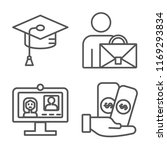 set of 4 vector icons such as... | Shutterstock .eps vector #1169293834