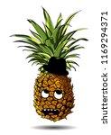 cute fresh pineapple cartoon... | Shutterstock .eps vector #1169294371