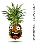 cute fresh pineapple cartoon... | Shutterstock .eps vector #1169294374