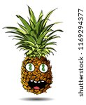 cute fresh pineapple cartoon... | Shutterstock .eps vector #1169294377