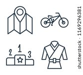 set of 4 vector icons such as... | Shutterstock .eps vector #1169296381