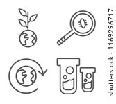 set of 4 vector icons such as... | Shutterstock .eps vector #1169296717